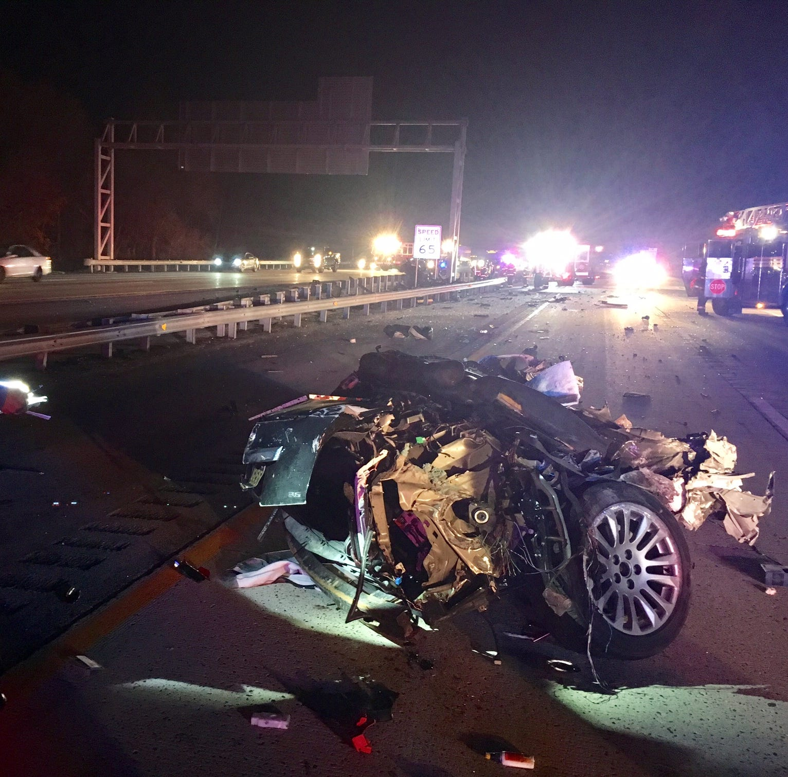 Two killed in high-speed crash on Del. 1 that split car in half, police say