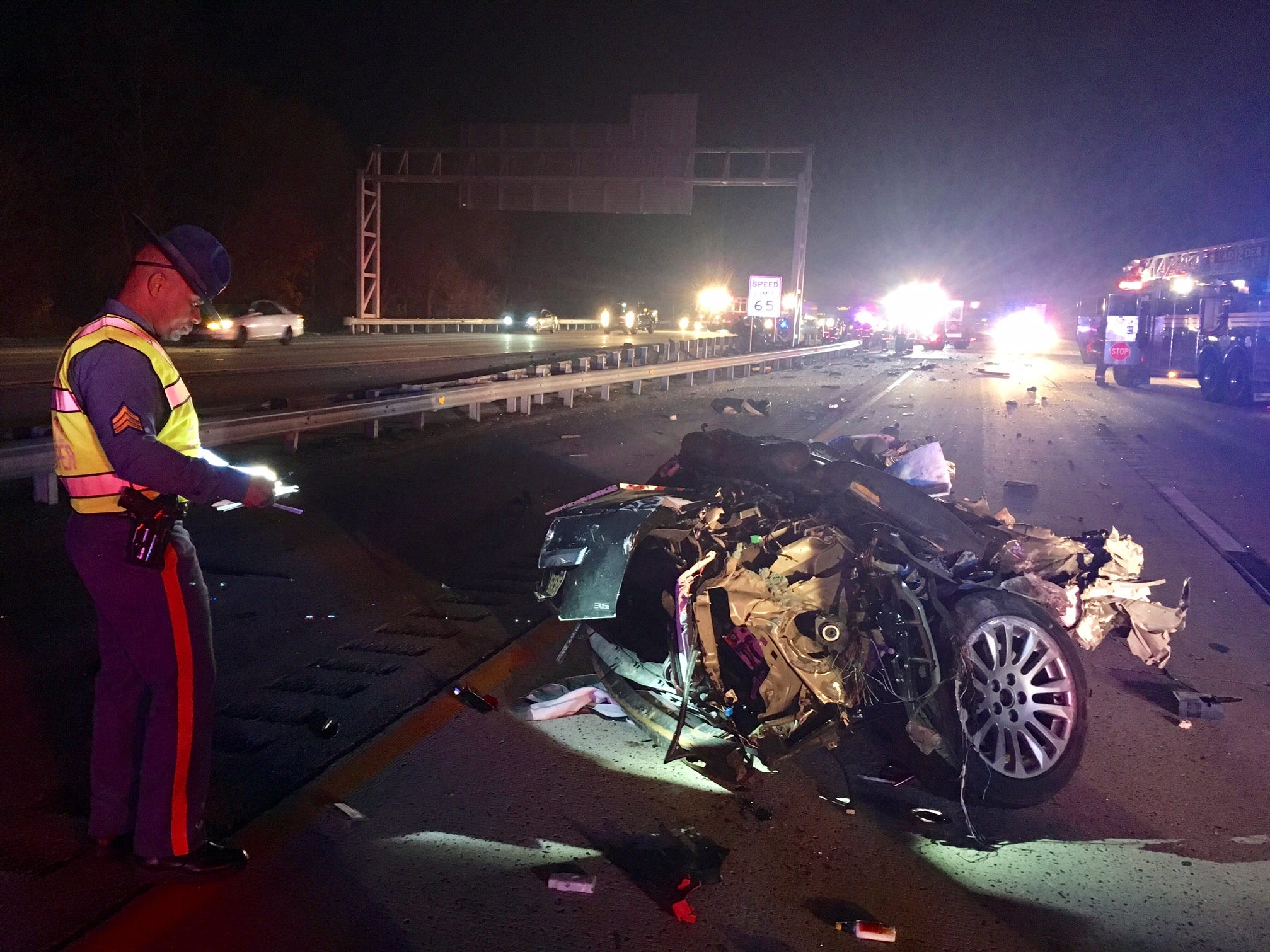 Del. 1 reopens after two Monday night crashes shut it down near Bear