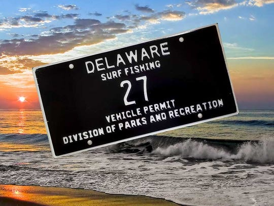 Delaware State Parks auctioned surf tag No. 27 on Black Friday.