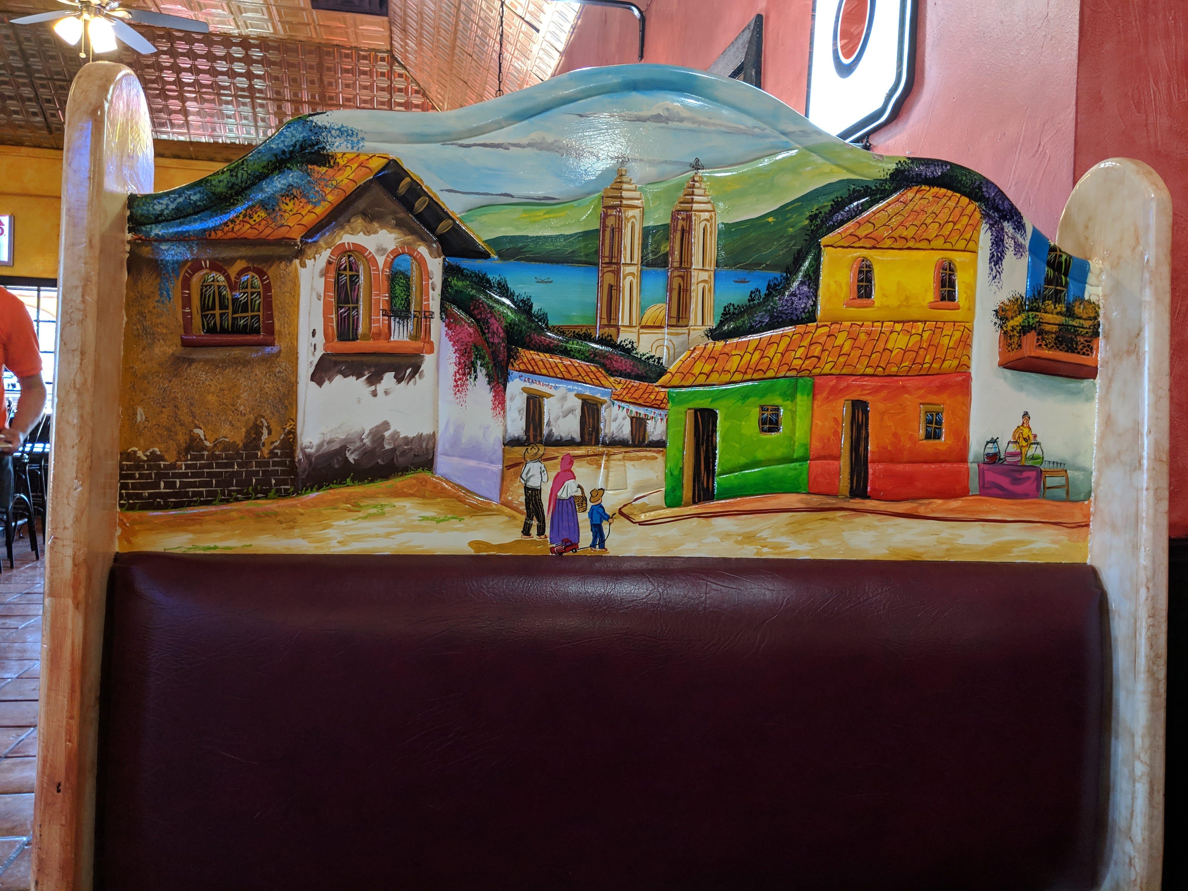 Inside El Tapatio Authentic Mexican Restaurant.