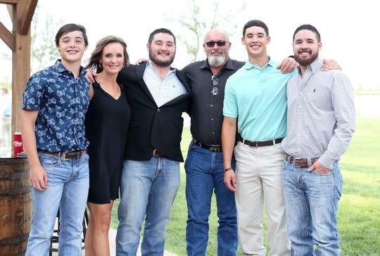 Jaxx, Tammy, Jacob, Frank, Jett and Justin Johnson (from left to right).