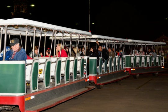 The Polar Express Country Club tour opened Thanksgiving and runs tonight from 6 to 10 p.m. at the Midwestern State University Parking lot near the MSU-Burns Fantasy of Lights. Tours run through Christmas Day. The cars have been painted a Christmassy red and white for 2018.