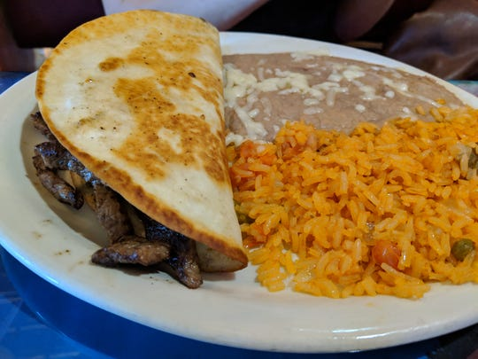 The lunch quesadilla fajita at El Tapatio Authentic Mexican Restaurant.