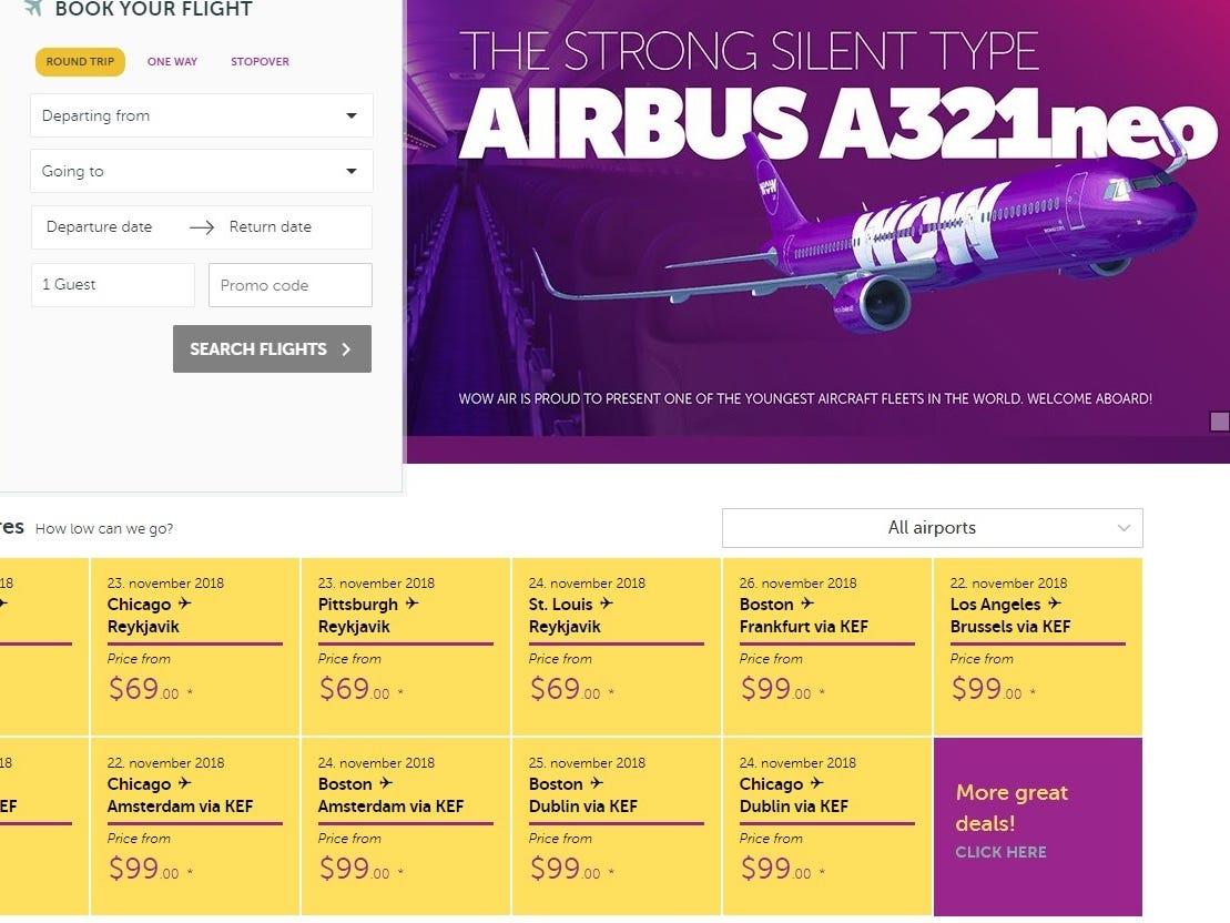WOW Air sale: Fares drop below $100 one way on Europe flights