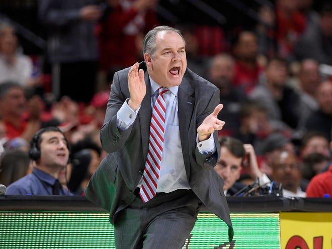 Rutgers coach Steve Pikiell, seen here during a 2018 game.