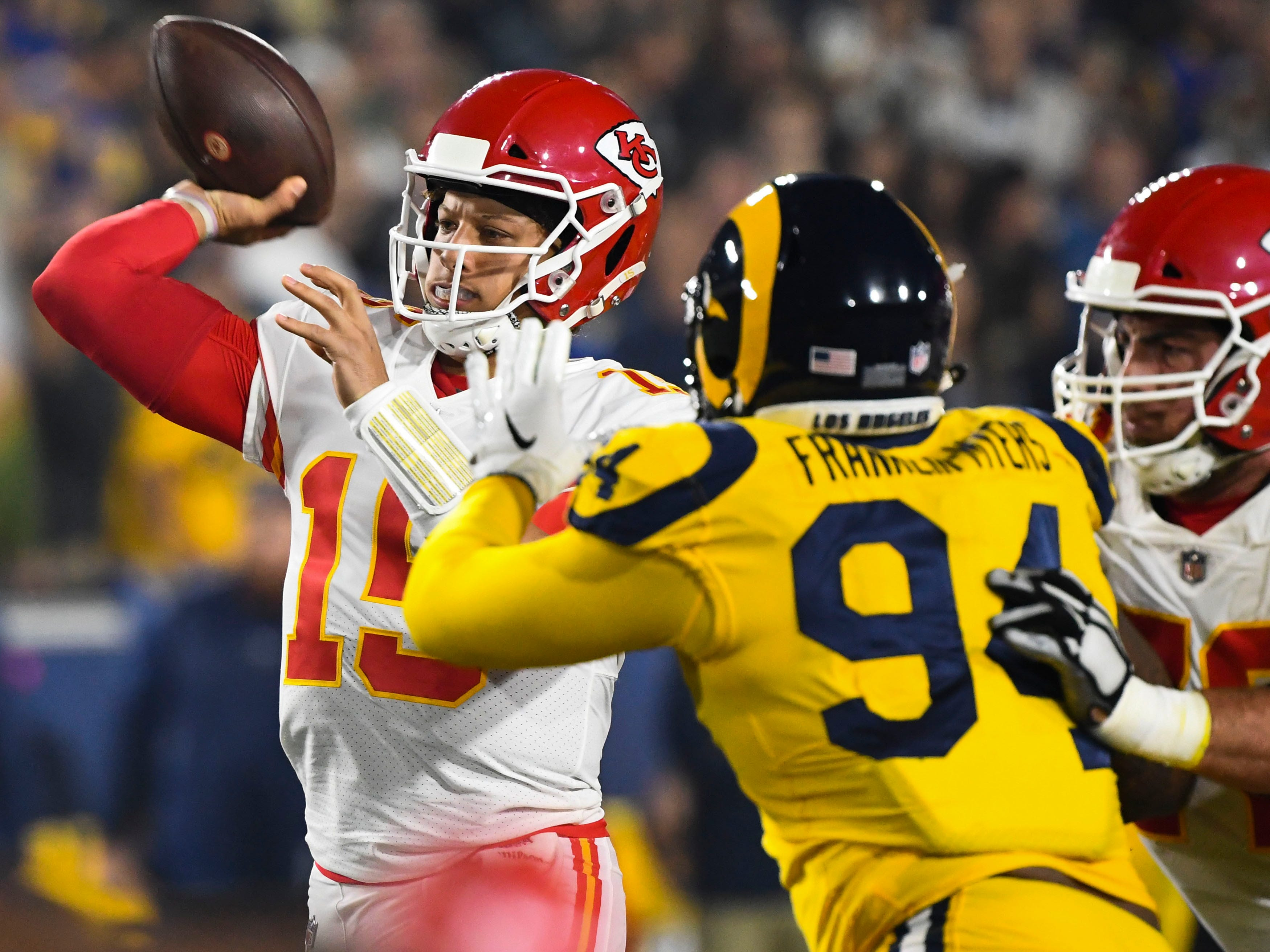 3. Chiefs (2): It figured Patrick Mahomes would have some rookie-esque, gunslinger-esque five-turnover nights. Just didn't figure they would be more than offset by six TD passes and a near-superhuman (but not quite adequate) performance.