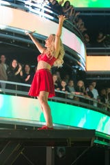 Evanna Lynch finishes her dance number gloriously. Your partner was proud.