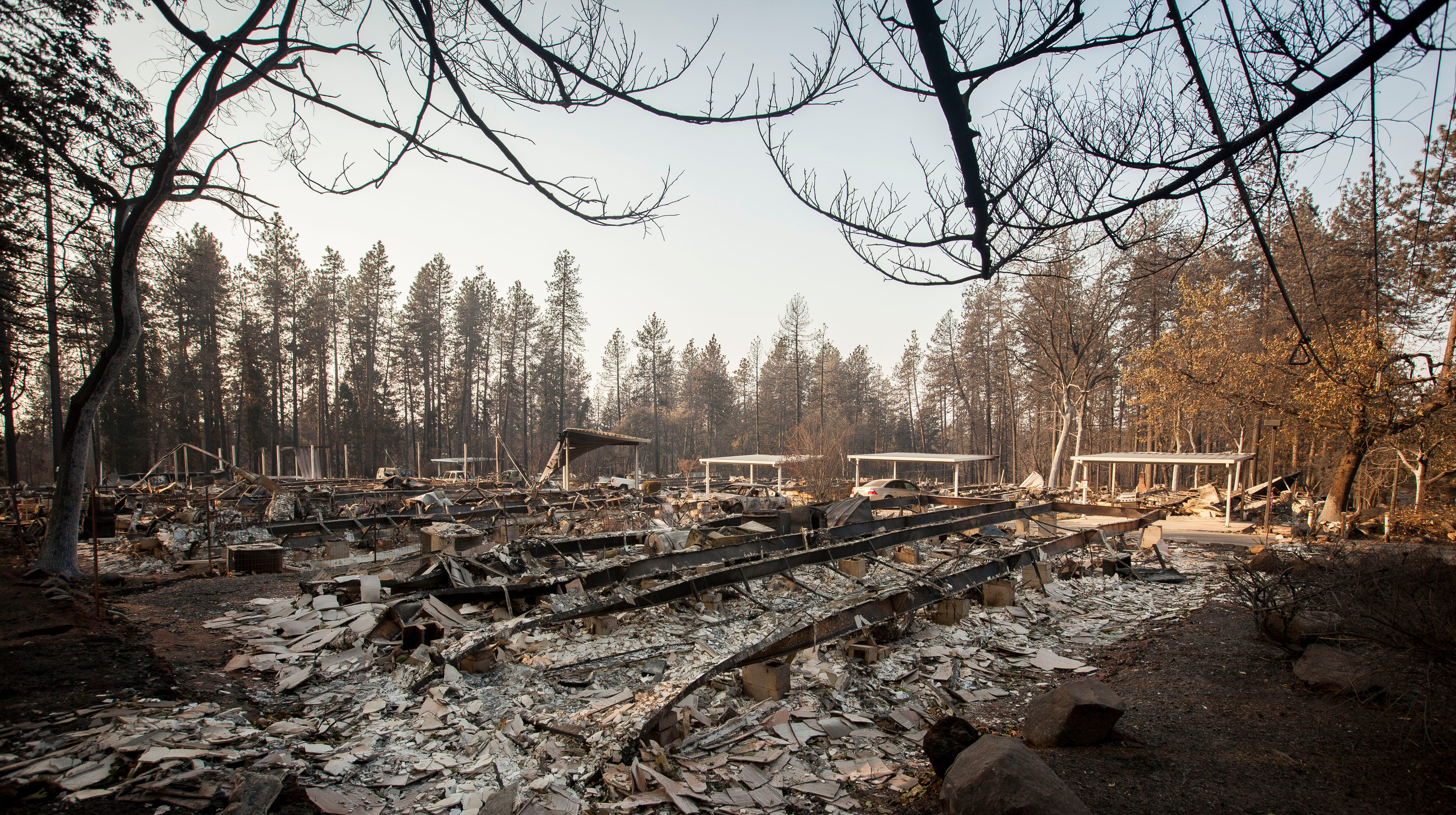 The Camp Fire burned so quickly through the town of Paradise that little remains recognizable from the Paradise Mobile Home Park that once was filled with homes.
