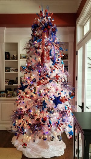 Fourth of July holiday tree