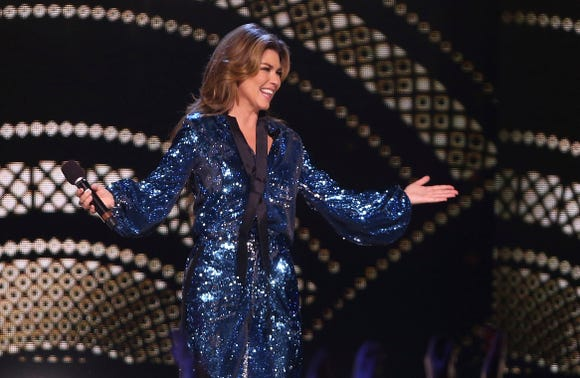 "Shania Twain reveals she peed on herseld onstage ""multiple times."""