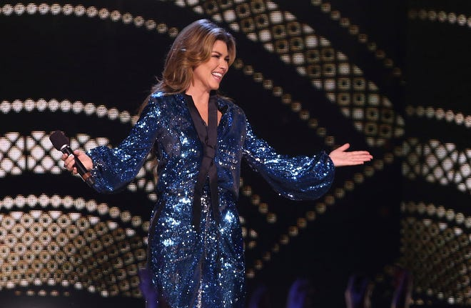 """Shania Twain reveals she peed on herseld onstage """"multiple times."""""""