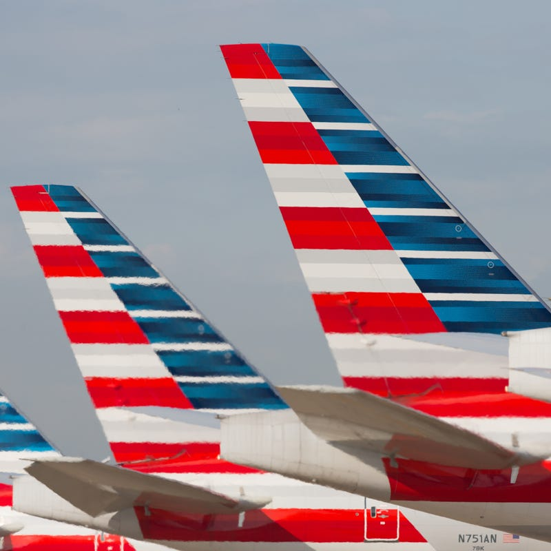 American Airlines' Boeing 777 tails are seen at Dallas/Fort Worth International Airport on Oct. 14, 2016.
