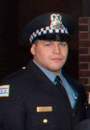 An undated handout photo from the Chicago Police Department showing Chicago Police Officer Samuel Jimenez.