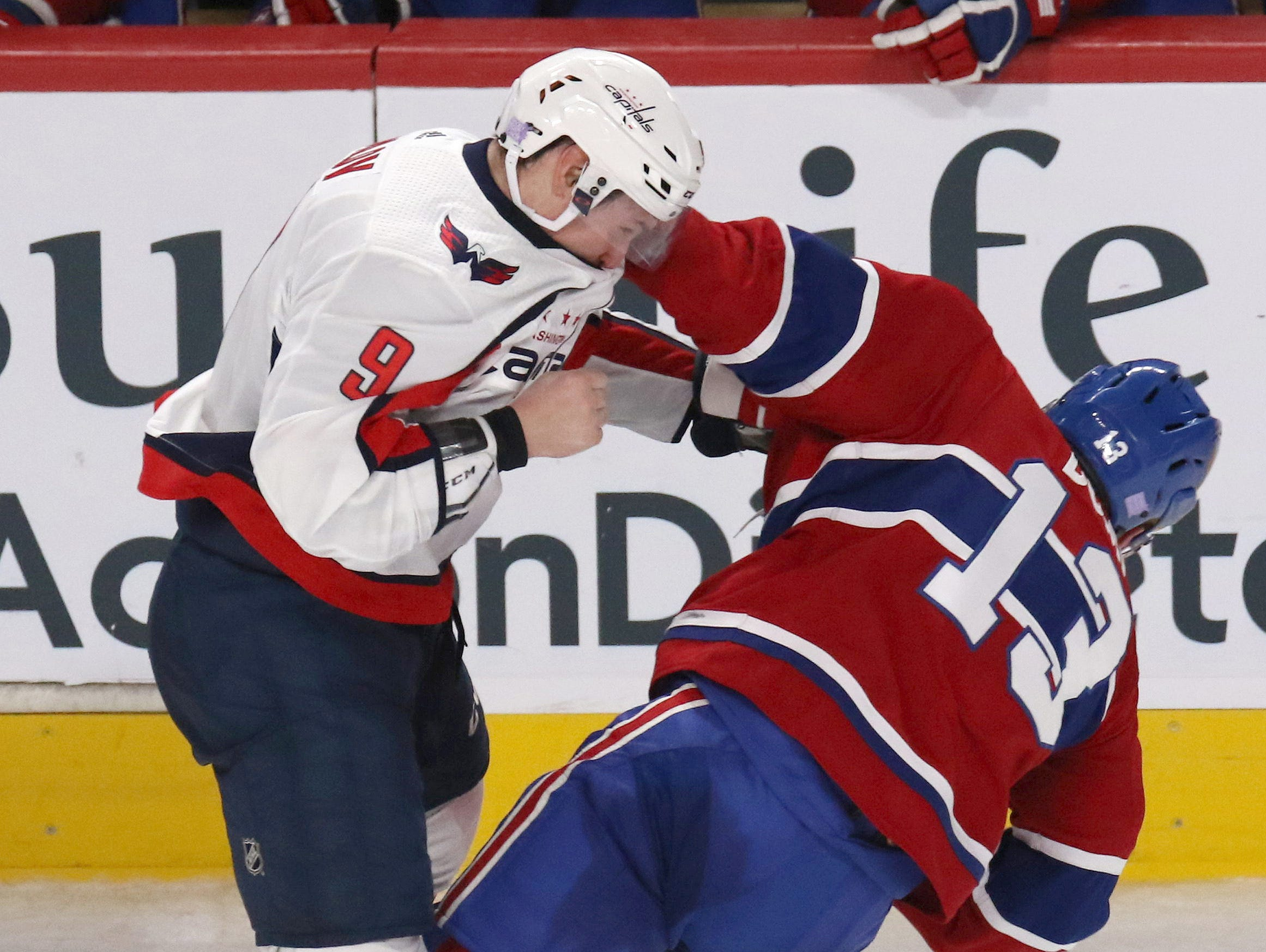 Nov. 19: Washington Capitals' Dmitry Orlov vs. Montreal Canadiens' Max Domi.