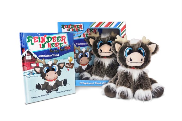 Reindeer in Here kits are sold at retail stores, Amazon and online.