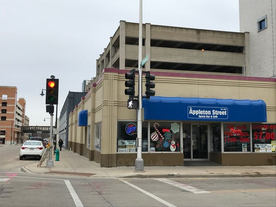 The Appleton Street Sports Bar & Grill will be demolished in early 2019 along with the parking ramp behind it and the gray TCGroup building on Washington Street.