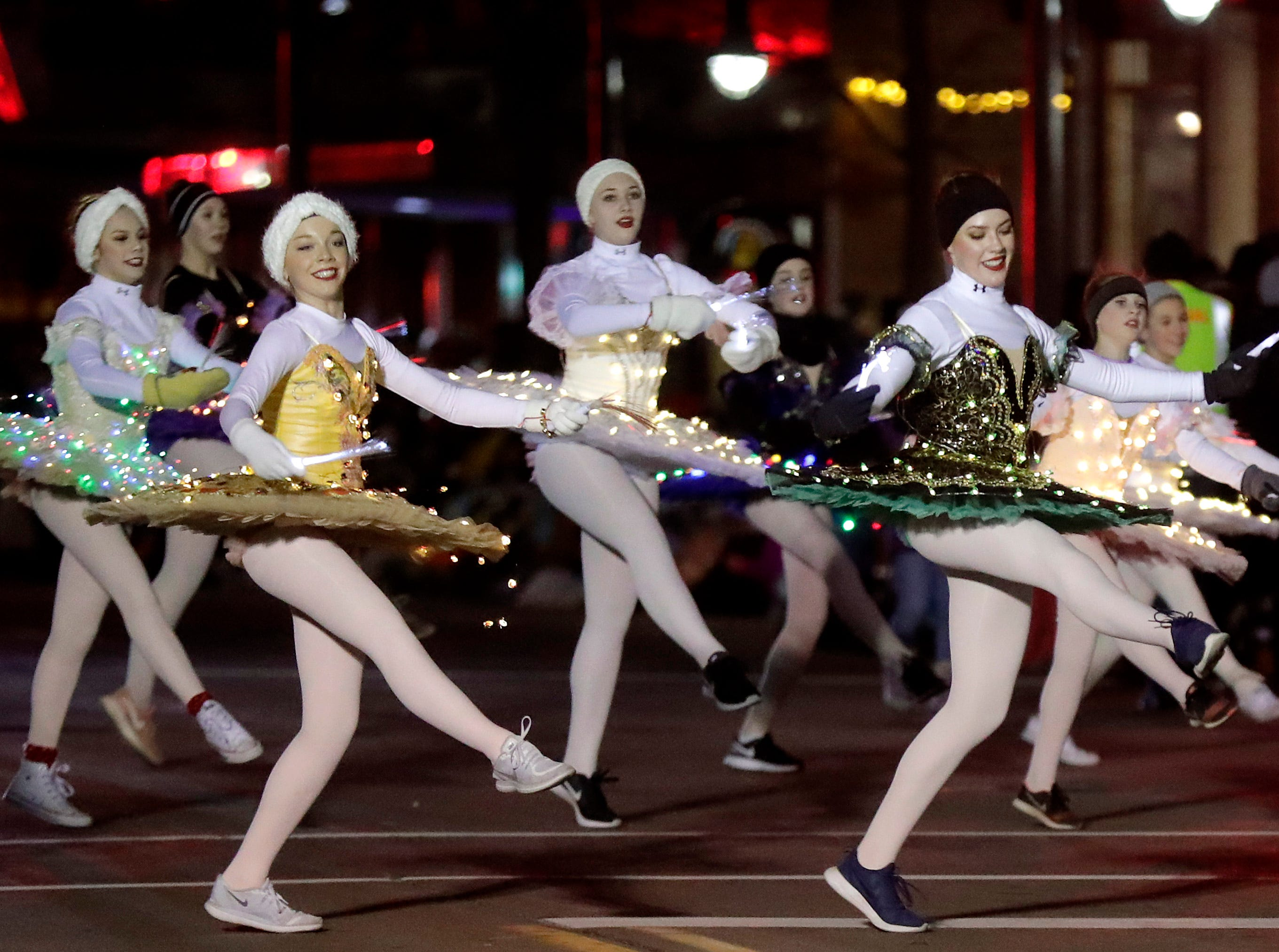 """The 48th Annual Downtown Appleton Christmas Parade on Tuesday, Nov. 20, 2018 in Appleton, Wis. This year's theme was """"Home for the Holidays."""" Wm. Glasheen/USA TODAY NETWORK-Wisconsin."""