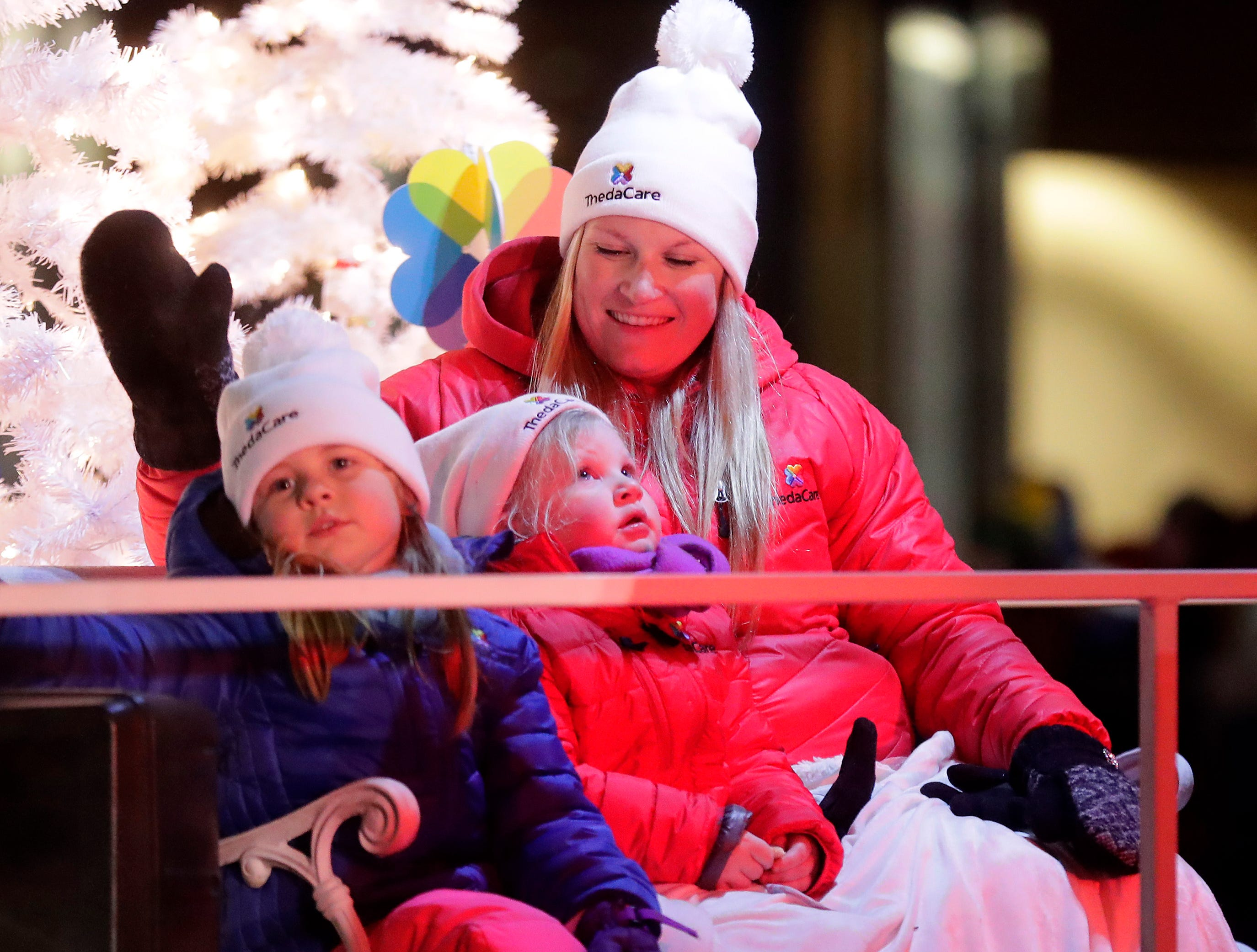 """The ThedaCare float during the 48th Annual Downtown Appleton Christmas Parade on Tuesday, Nov. 20, 2018 in Appleton, Wis. This year's theme was """"Home for the Holidays."""" Wm. Glasheen/USA TODAY NETWORK-Wisconsin."""