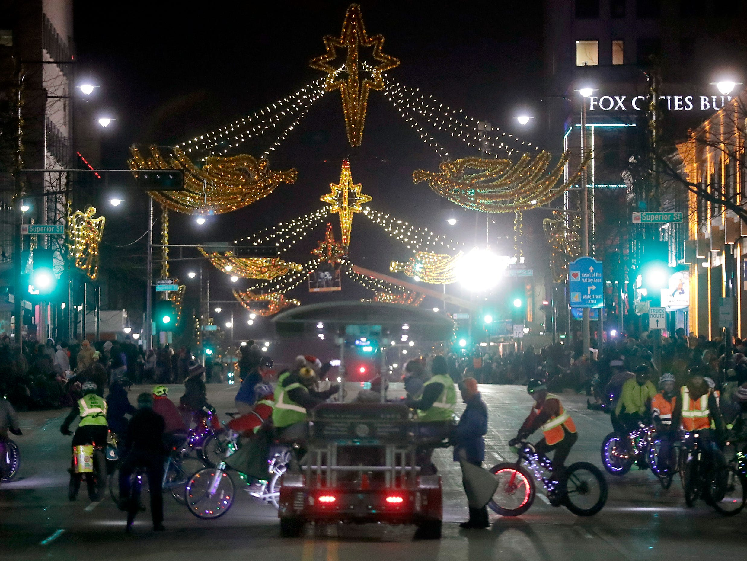"The 48th Annual Downtown Appleton Christmas Parade on Tuesday, Nov. 20, 2018 in Appleton, Wis. This year's theme was ""Home for the Holidays."" 