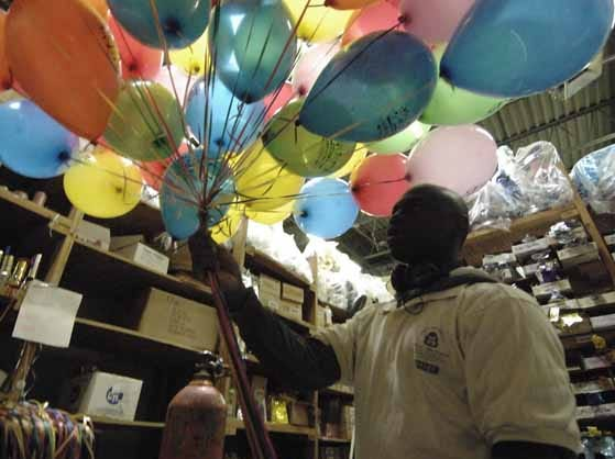 73652 Hackensack Chroncile 11/24/10 Hackensack, NJ MACYS DAY PARADE BALLOONS Life of the Party in Hackensack was selected as the official balloon-blower for the Macys Thanksgiving Day parade. Employee Deon Ward carries out balloons Joe Camporeale/Staff