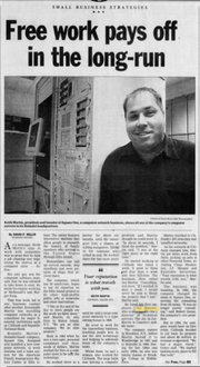 The Asbury Park Press profiled Keith Caneiro, who then went by Keith Martin, on Page B3 of the May 6, 2001 edition.