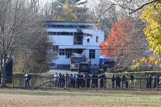 Scene of a multiple fatal fire at 15 Willow Brook Road in Colts Neck, NJ Wednesday November 21, 2018.