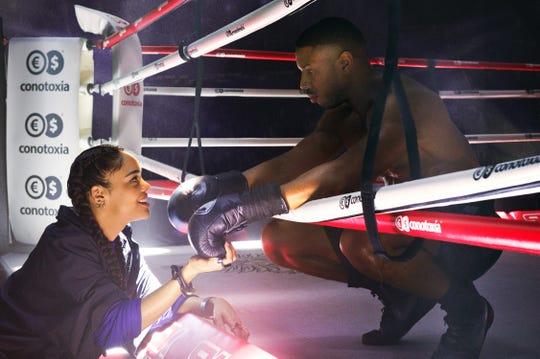 """Tessa Thompson stars as Bianca and Michael B. Jordan as Adonis Creed in """"Creed II,"""" a Metro Goldwyn Mayer Pictures and Warner Bros. Pictures film."""
