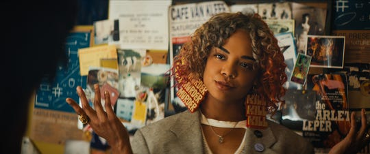 "Tessa Thompson stars as Detroit in Boots Riley's ""Sorry to Bother You,"" an Annapurna Pictures release."