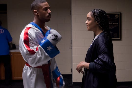 "Michael B. Jordan stars as Adonis Creed and Tessa Thompson as Bianca in ""Creed II,"" a Metro Goldwyn Mayer Pictures and Warner Bros. Pictures film."