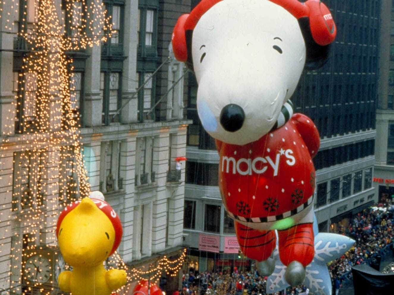 The Peanuts comic strip characters Woodstock and Snoopy balloons are a traditional feature in the Macy's Thanksgiving Day Parade. (Gannett News Service/NBC)