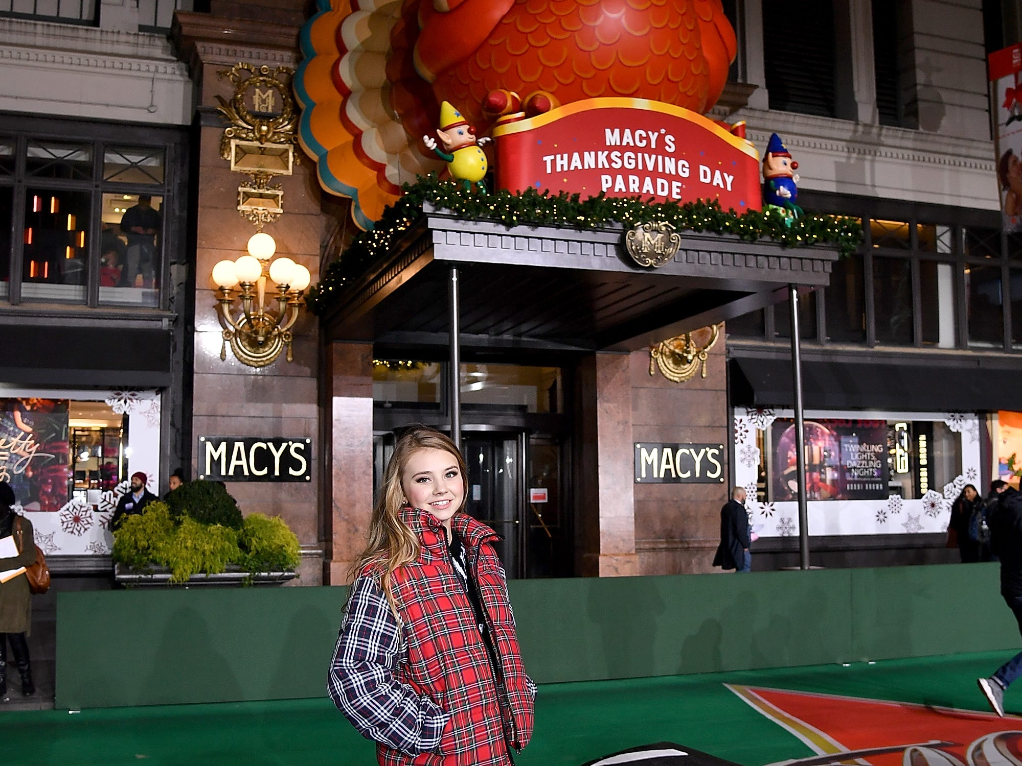 NEW YORK, NY - NOVEMBER 19:  Singer Tegan Marie poses during the 92nd Annual Macy's Thanksgiving Day Parade rehearsals day one on November 19, 2018 in New York City.  (Photo by Michael Loccisano/Getty Images)