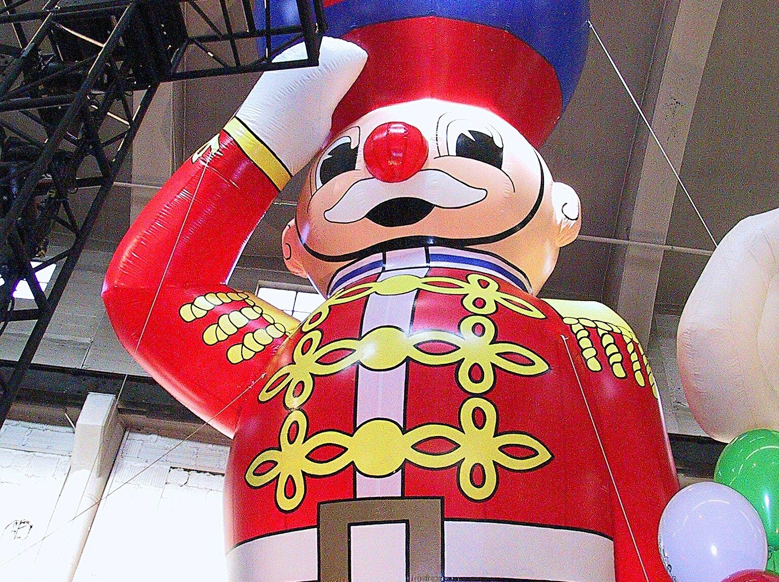 -  -The Toy Soldier balloon is ready to go at the Macy's Parade Studio in Hoboken, N.J. It is one of 15 giant character balloons that will be featured in this year's Macy's Thanksgiving Day Parade.