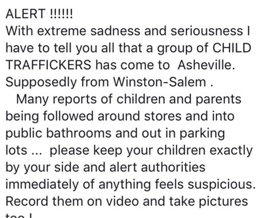 Human Trafficking Warning