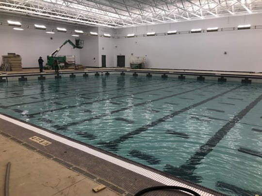 The new $5.3M pool on the Roberson High campus should open in late January.