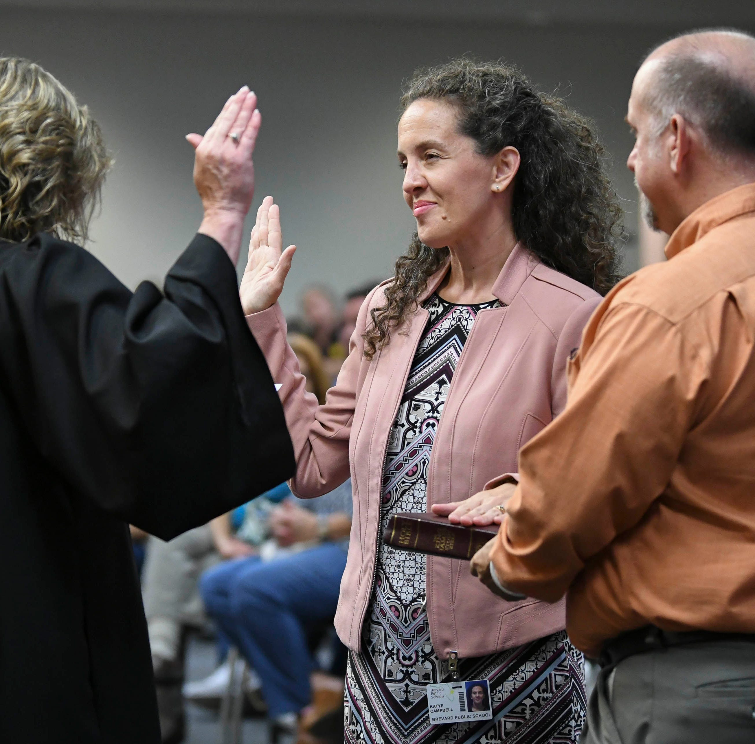 New Brevard School Board members sworn in; Tina Descovich named board chair