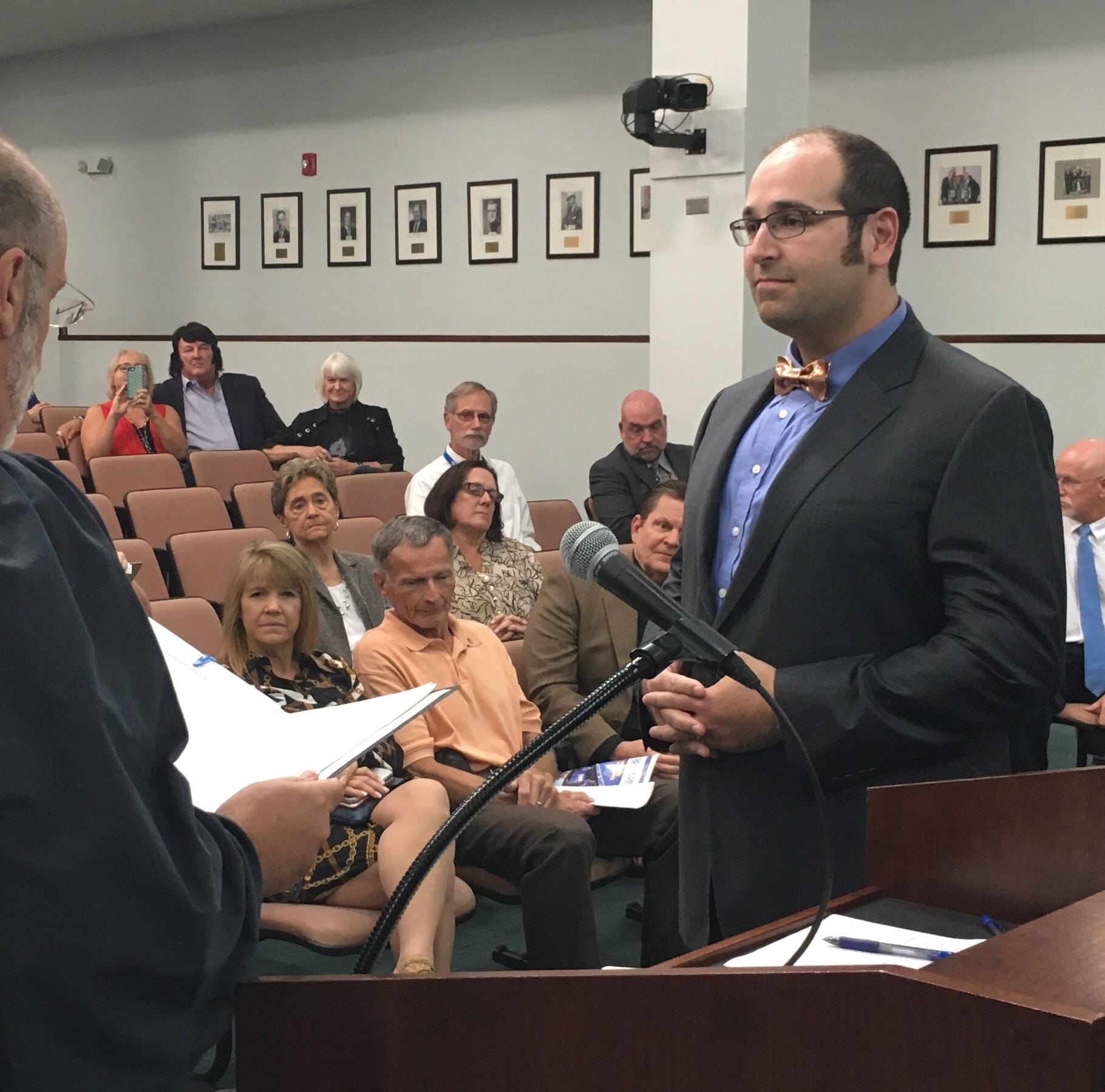 New County Commissioner Lober takes office, then unanimously is elected vice chair