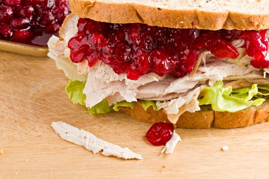 Turkey And Cranberry Sandwich