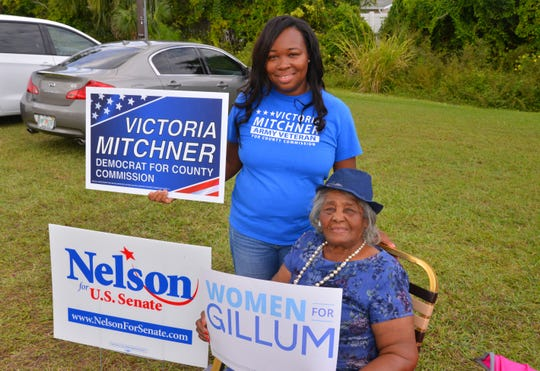 Democratic District 2 Brevard County Commission candidate Victoria MItchner was campaigning at Hope United Church of Christ with Jewel Collins on Election Day. Mitchner, incumbent U.S. Sen. Bill Nelson and gubernatorial candidate Andrew Gillum were among the Democrats who lost.