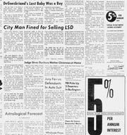 Burlington Free pRess Wed., Nov. 27, 1968.