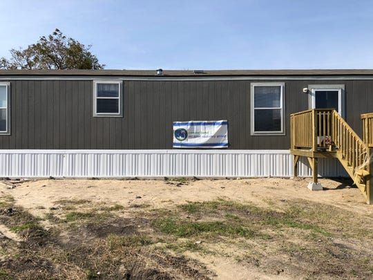The house that the Hernandez family was given by the Coastal Bend Recovery Group in Austwell, Texas.