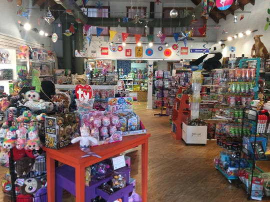 Wonder World Toys in Medford carries a wide selection of classic toys but also brings in trendy items based on what kids watch on YouTube. Young shoppers can try out toys at a demo table.