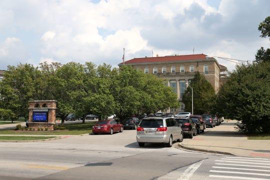 The Enquirer/Kareem Elgazzar Western Hills High School, pictured, Monday, Sept. 18, 2017, in Cincinnati.