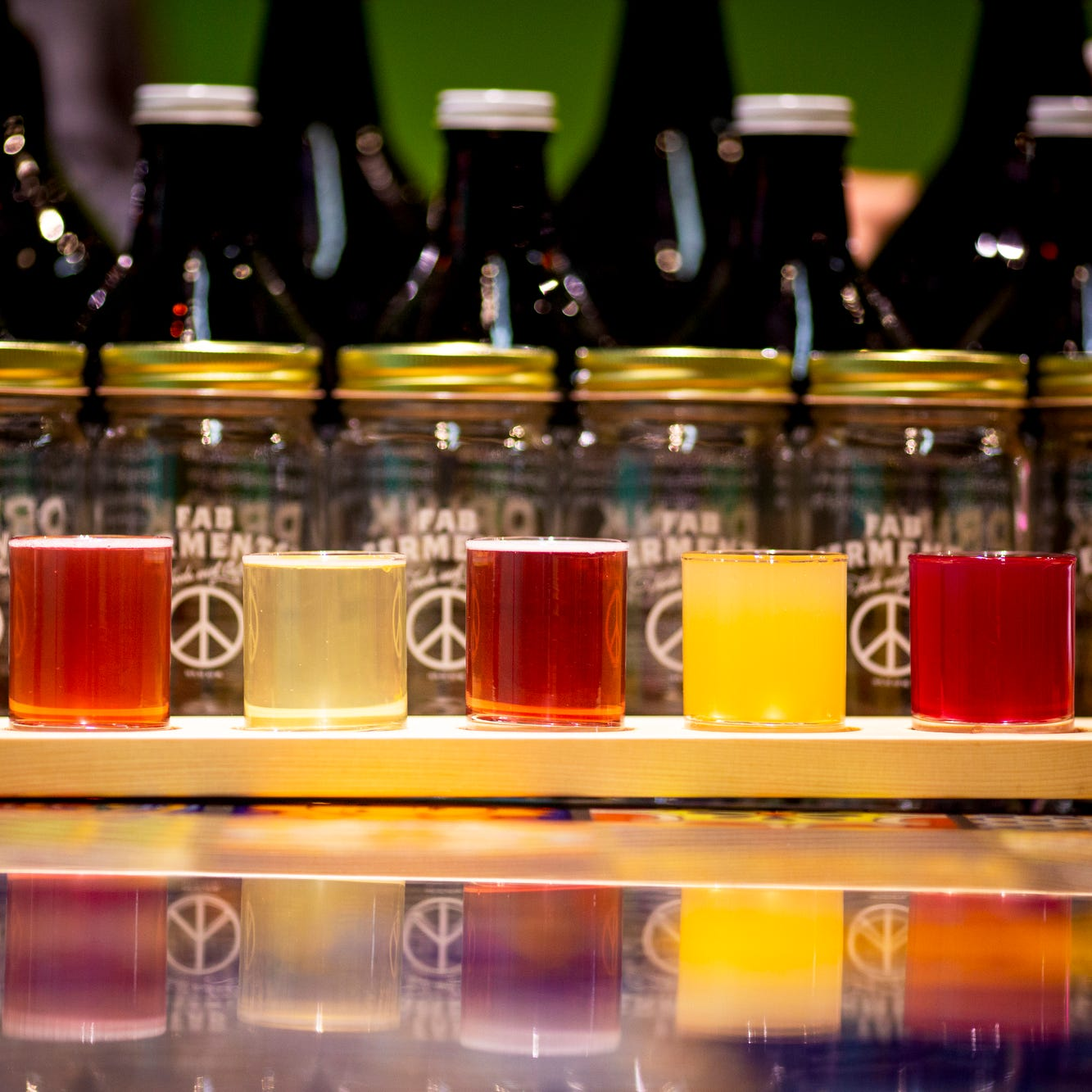 Fab Ferments has eleven different kombuchas on...