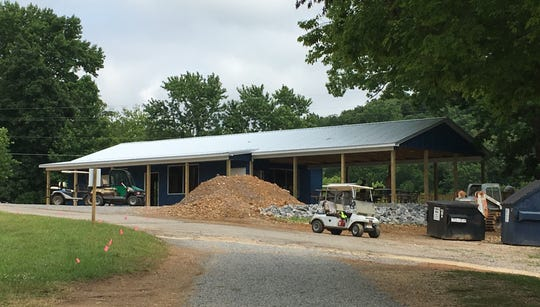 After an old store at Brownfield Riverside Resort was demolished,  work began on Miss Kay's Country Store.