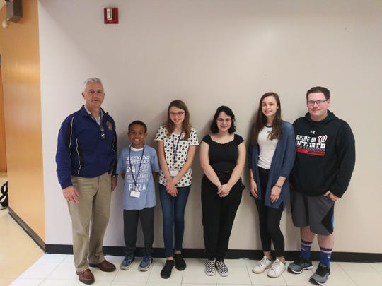 Throughout the school year, the Middle/High School teaching staff nominates students. The nominations are based on character, school spirit, and academic integrity. For October, we are happy to announce our winners. Pictured from left to right: Principal - Dr. Patrick McCabe, and Middle School students: Grade 6 - Christian Stair,  Grade 7- Carolyn Grace , Grade 8 - Isabella Vargas, and High School students: Alicja Haran and Michael Coman.
