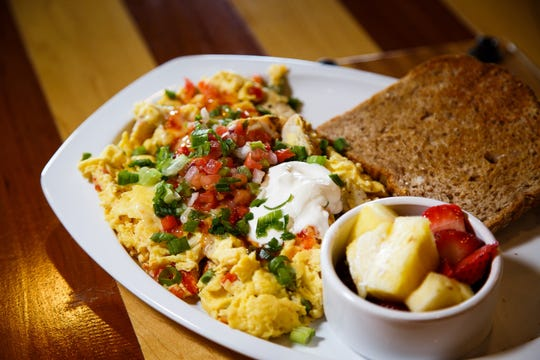 The fajita chicken scramble at the Main Street Cafe and Bakery in Ankeny. Teh cafe will open a Des Moines location in early December.
