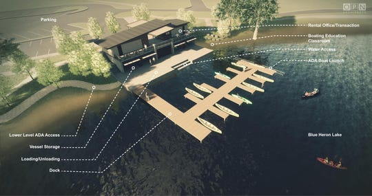 Construction on a $2.4 million boat house at Raccoon River Park will start in 2019.