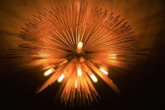 A light fixture at Antihero.