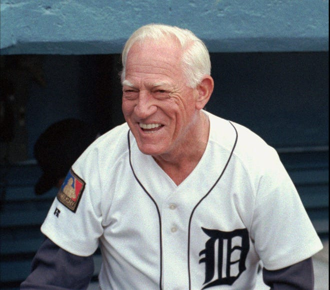 Detroit Tigers manager Sparky Anderson is shown before the Seattle Mariners game on July 27, l994, in Detroit.