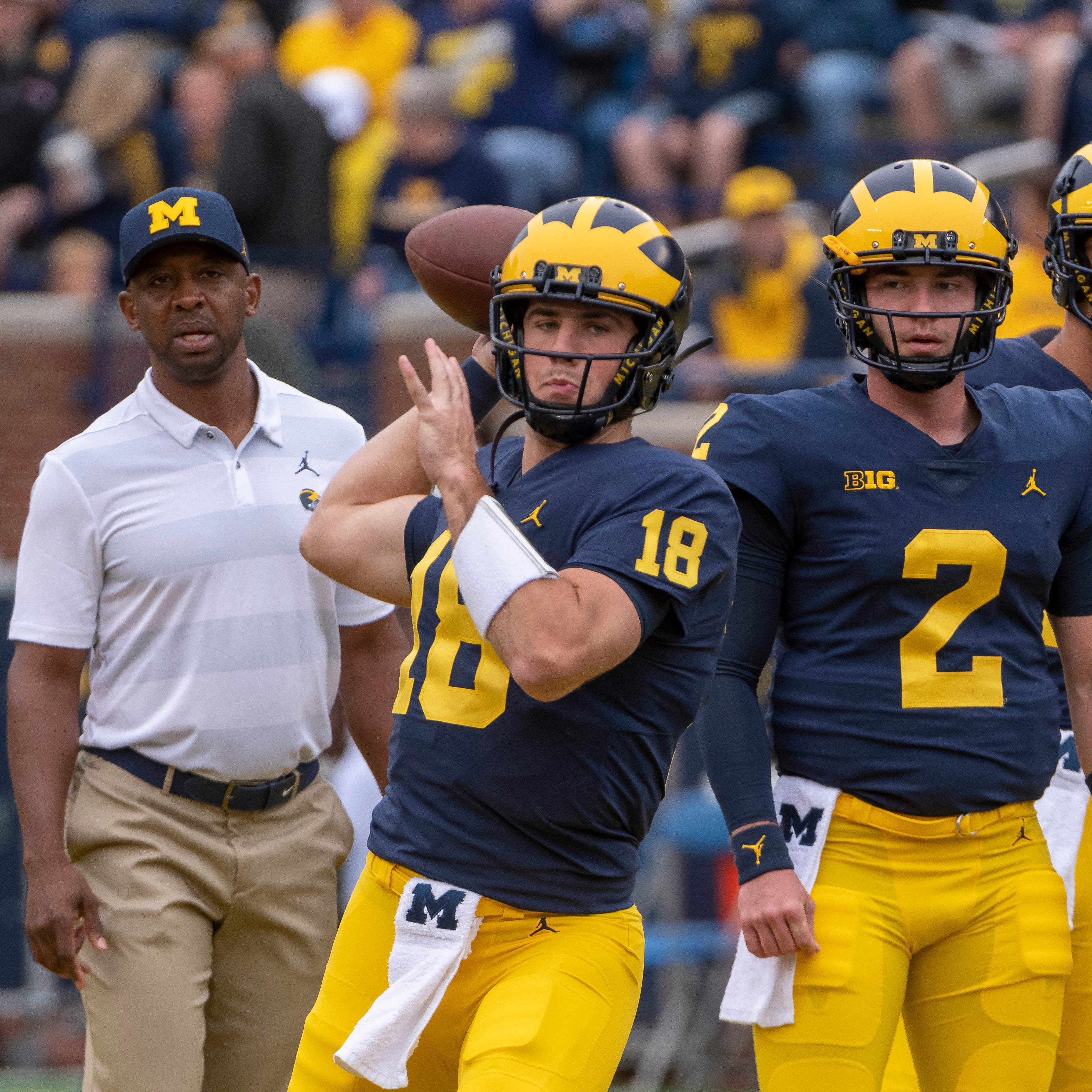 Pep Hamilton's Thanksgiving advice to Michigan QBs: Just say no